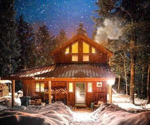 holiday, home, and snow image