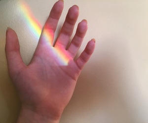 aesthetic, rainbow, and vulnerability image
