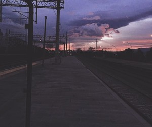 aesthetic, train station, and trip image