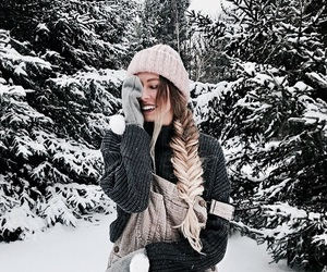 winter, braid, and christmas image