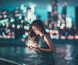 photography, girl, and lights image