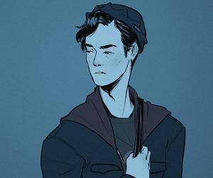 boy, handsome, and illustration image