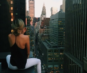 buildings, girl, and new york image