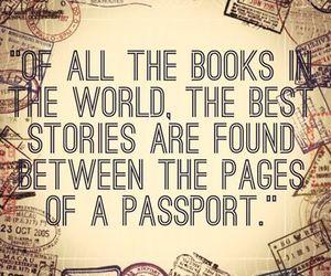 travel, book, and passport image