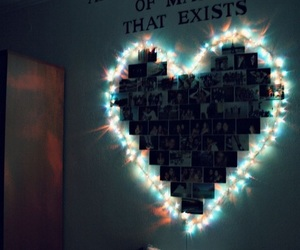 heart, room, and art image