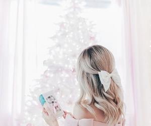 pink, christmas, and girl image