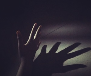 Darkness, hand, and phorography image