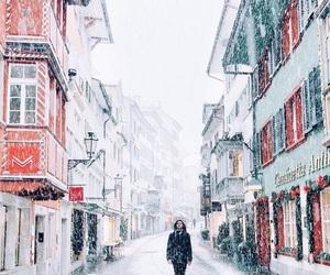 christmas, snow, and travel image