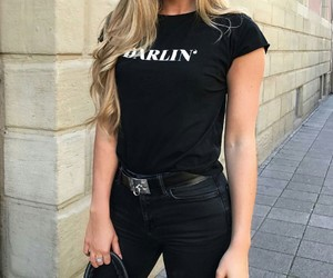 black, goals, and chic outfits image