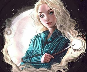 harry potter, luna lovegood, and drawing image
