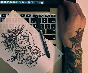tattoo, art, and draw image