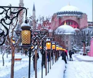 city, winter, and istanbul image
