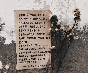 aesthetic, flower, and quote image