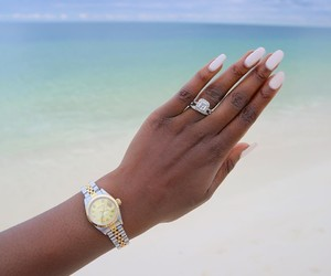 diamonds, rings, and rolex image