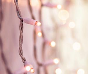 light, pink, and christmas image
