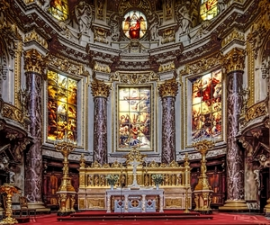 baroque, berlin, and cathedral image