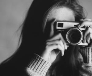 analog, black and white, and camera image