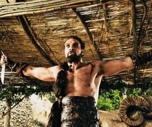 game of thrones, khal drogo, and jason momoa image