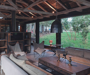 home, interior design, and rustic image
