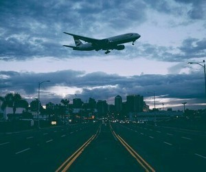 travel, sky, and plane image