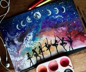art, painting, and colourful image