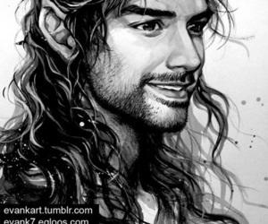 kili, drawing, and the hobbit image
