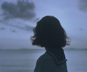 girl, sky, and sea image