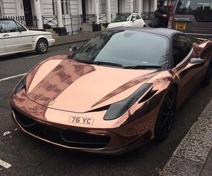 car, luxury, and rose gold image