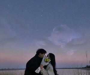 couple, korean, and sky image