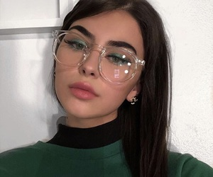 glasses, beauty, and girl image