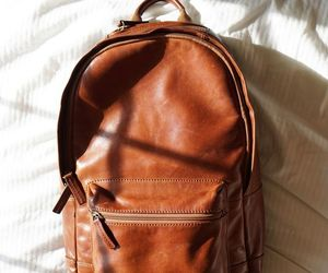aesthetic, backpack, and brown image