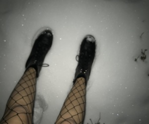 blurry, boots, and cold image