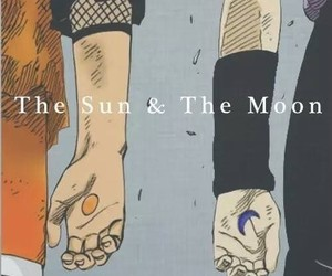 naruto, moon, and sasuke image