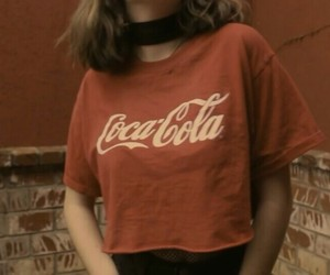 aesthetic, choker, and coca cola image