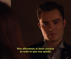 chuck bass, gossip girl, and pain image