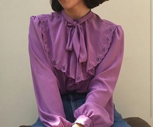aesthetic, blouse, and bow image