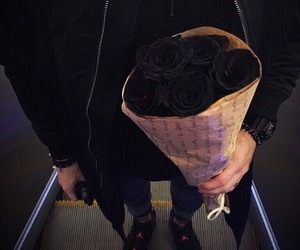 black, boy, and rose image