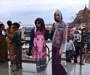 varanasi docks, varanasi india ghats, and female travel india image