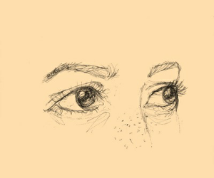 cool, eyes, and sketch image