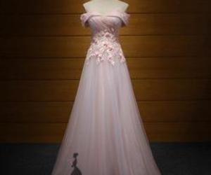 evening dress, pink, and tulle image