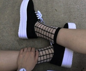 black, modern, and sneakers image