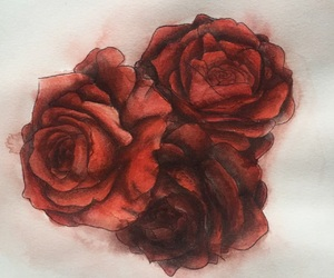 rose, aesthetic, and art image