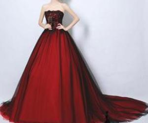 a-line, long prom dress, and evening dress image