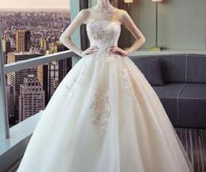 ball gowns, tulle, and white image