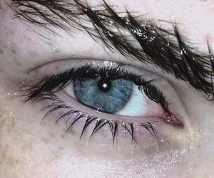 eye, blue, and grunge image