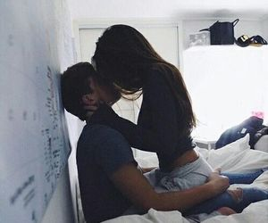 cute couple, goals, and kisses image