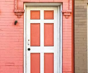 doors, peach, and peachy image