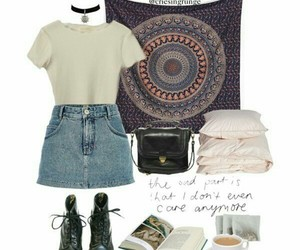 denim, grunge, and skirt image