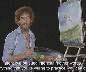 art, bob ross, and drawing image