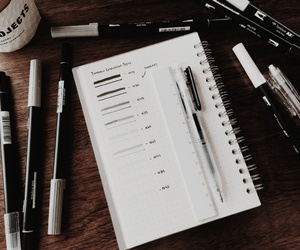aesthetics, pens, and brown image
